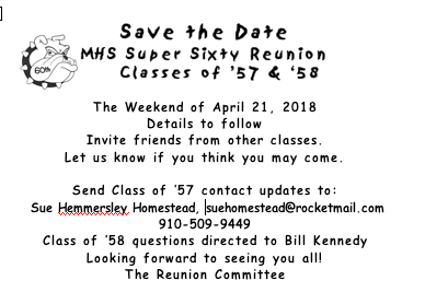 Montclair High School Class of 1957 60th reunion